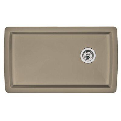 Blanco Diamond 33.5 L x 18.5 W Undermount Kitchen Sink Color: Truffle