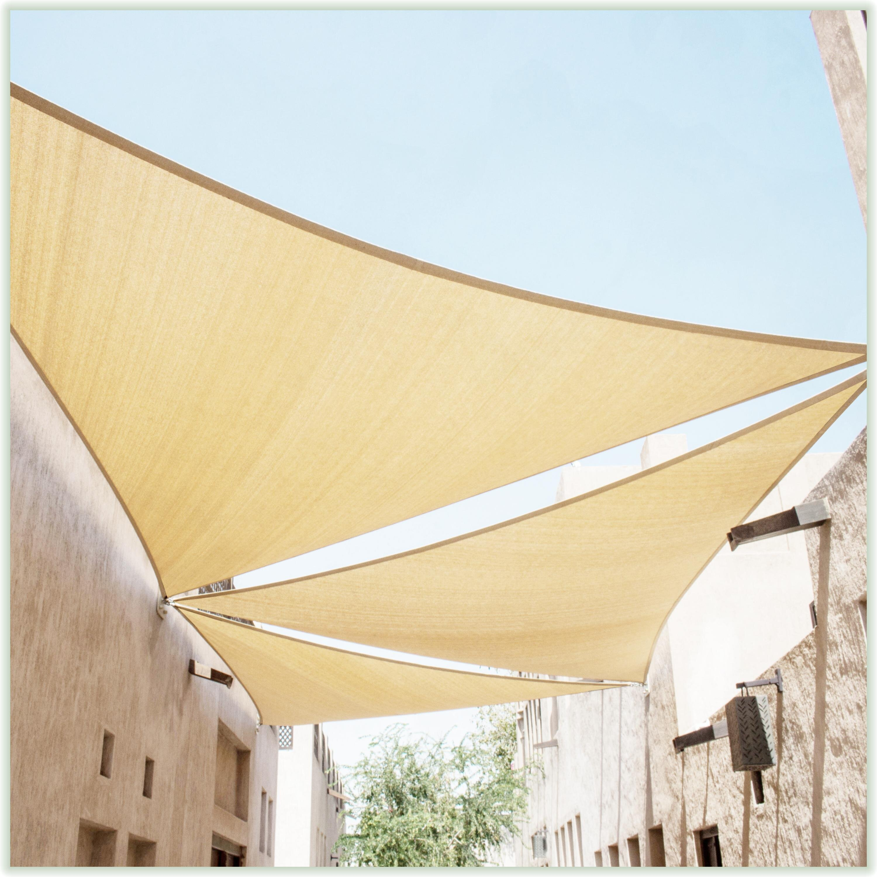 6 x 8 Grey Rectangle Sun Shade Sail 95/% UV Blockage Water /& Air Permeable for Outdoor Patio Garden Commercial /& Residential