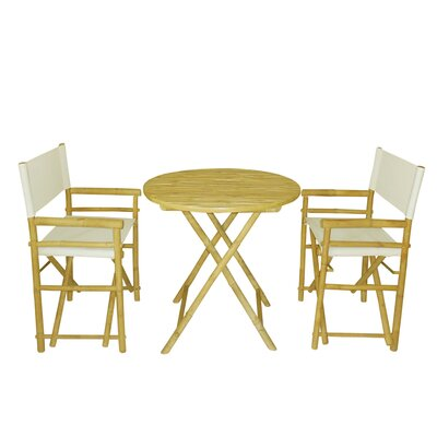 Buyers Choice Phat Tommy 3 Piece Bistro Set  Color: Ivory