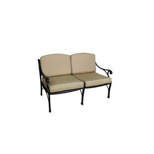 California Outdoor Designs La Jolla Deep Seating Loveseat with Cushion