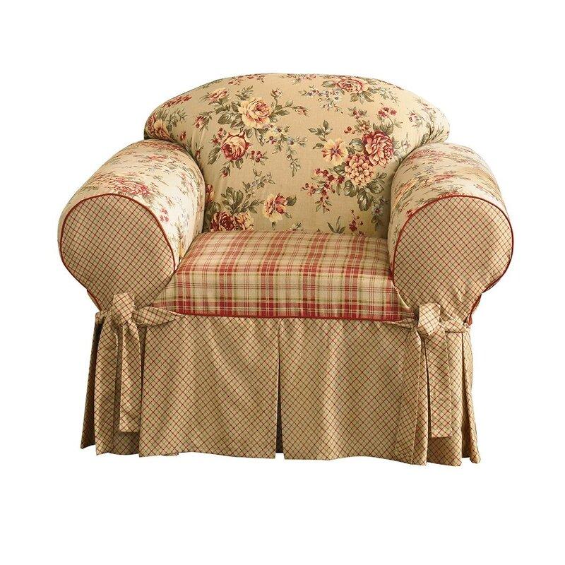 Lexington Club Box Cushion Armchair Slipcover
