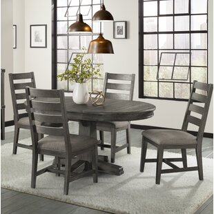 Padiham 5 Piece Extendable Solid Wood Dining Set