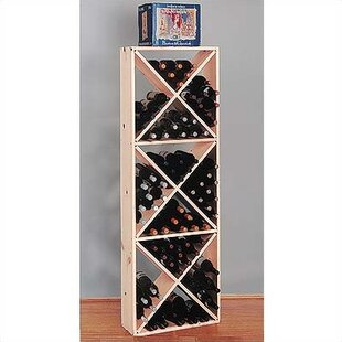 Wine Cellar Innovations Country Pine Solid 132 Bottle Floor Wine Rack
