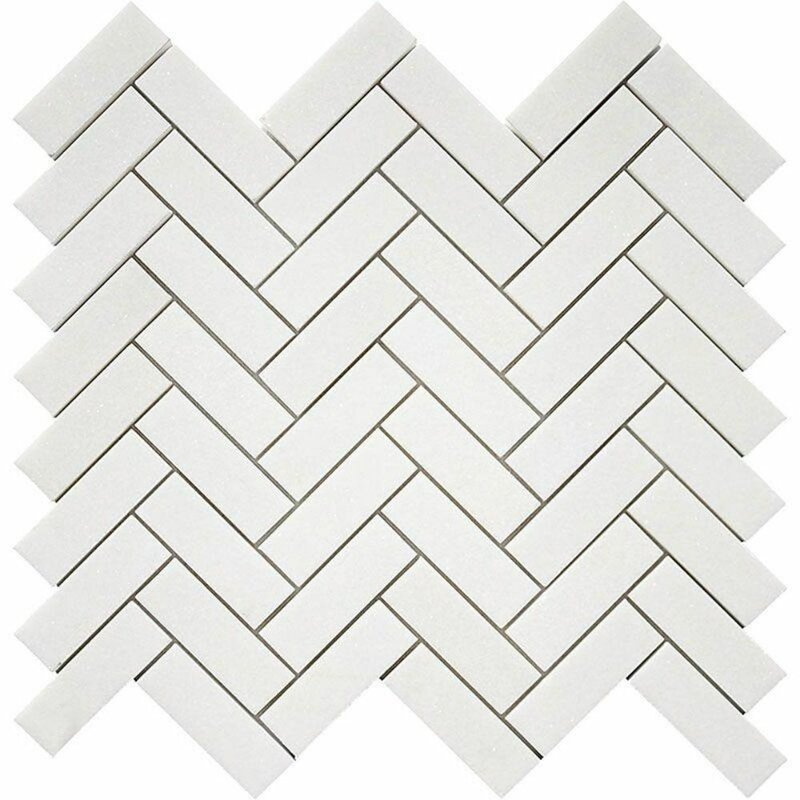 Tile Mosaic Depot 1 X 3 Marble Chevron Mosaic Wall Floor Tile Wayfair