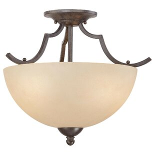 Alani 2-Light Semi Flush Mount Ceiling Light by Fleur De Lis Living