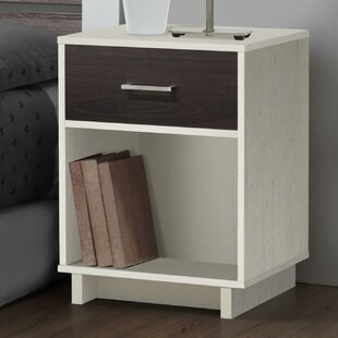 Acosta 1 Drawer Bedside Table By Zipcode Design