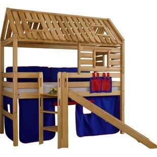 Kylie European Single Mid Sleeper Bed By Zoomie Kids