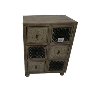 Manoj Wooden 6 Drawer Accent Chest