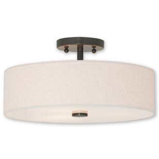 Ivy Bronx Alina 3-Light Semi Flush Mount