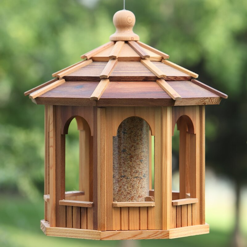All Things Cedar Octagonal Hopper Bird Feeder