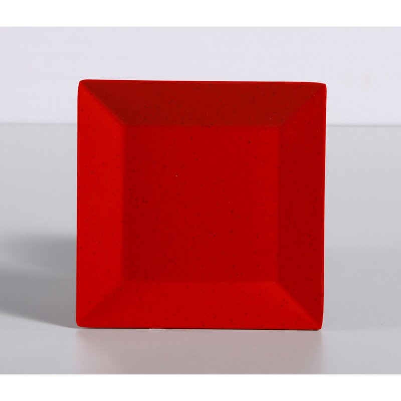 Yancomelamine Yanco Me 106 Mexico Plate Square 6 Length 6 Width Melamine Red Color With Black Speckled Pack Of 48 Wayfair