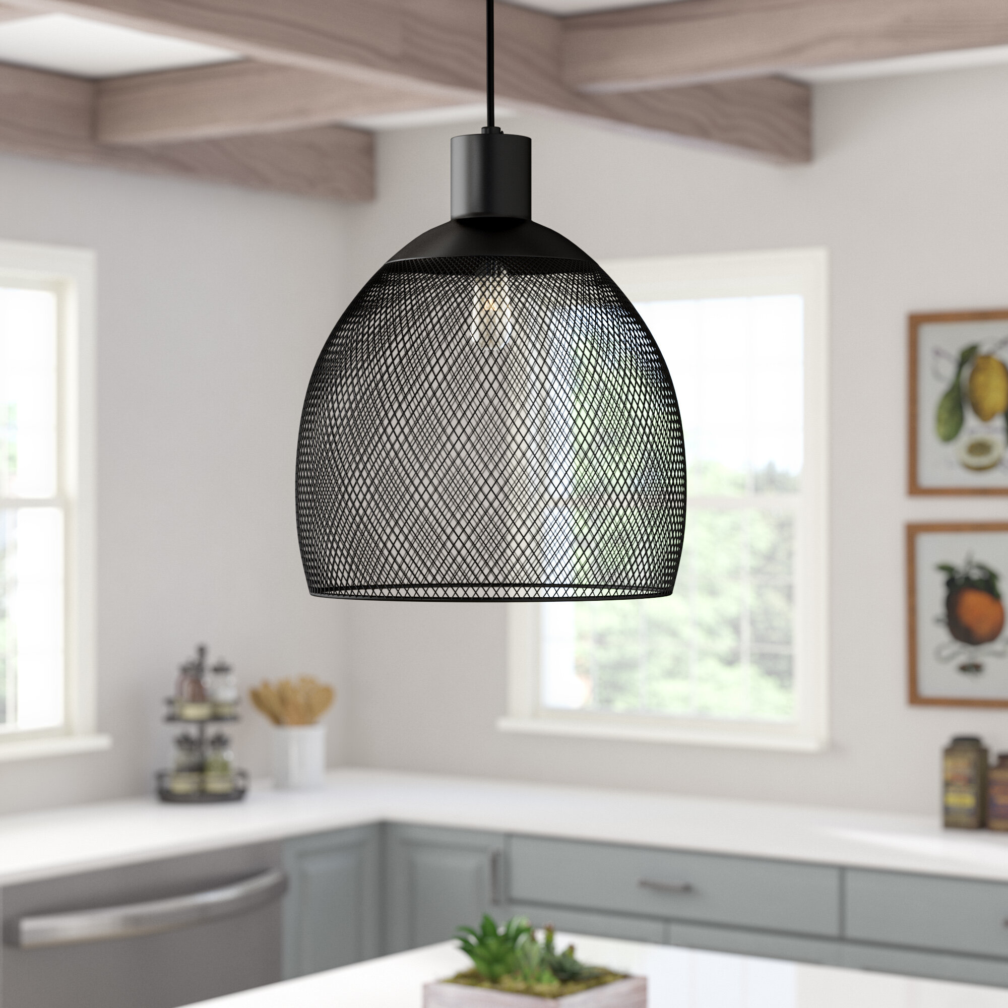 Laurel Foundry Modern Farmhouse Saladino 1 Light Single Dome Pendant Reviews Wayfair