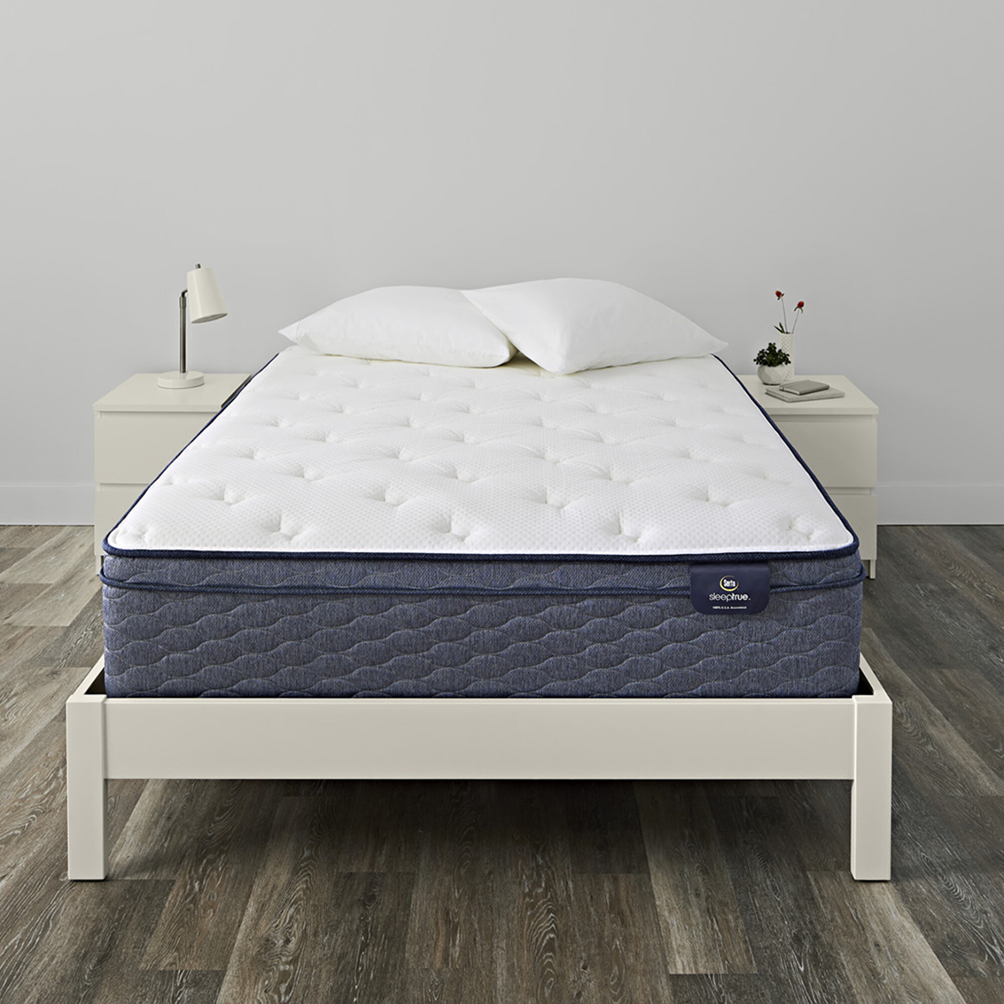 Serta Sleeptrue 13 Plush Pillow Top Hybrid Mattress Reviews Wayfair