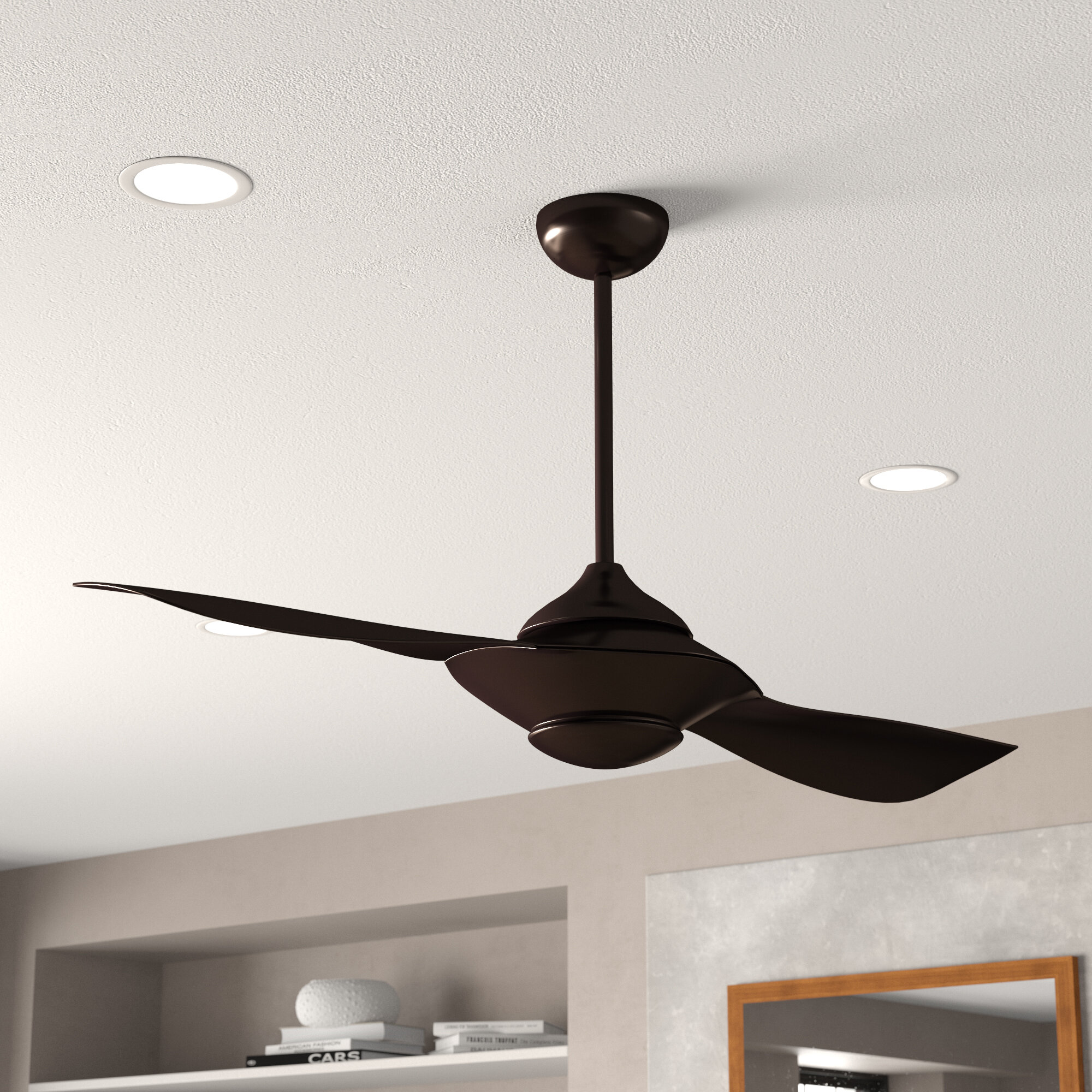 Orren Ellis 54 Knaus 2 Blade Propeller Ceiling Fan With Remote Control And Light Kit Included Reviews Wayfair Ca