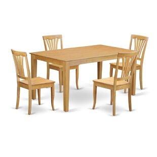 Capri 5 Piece Dining Set by Wooden Importers No Copount