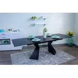 Beauville Glass Top Extendable Dining Table by Brayden Studio®