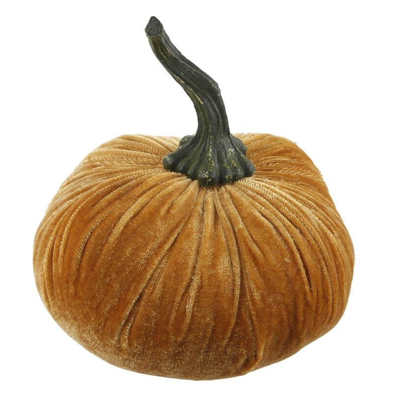 Velvet Pumpkin Decorative Accent #velvetpumpkin #falldecor #autumndecor #pumpkins