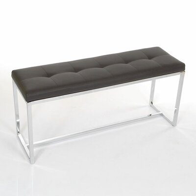 Midnight Bark First Hill Girard Storage Bench with Faux-Leather Upholstery
