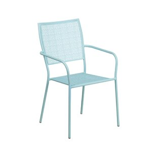 Blacke Square Back Stacking Patio Dining Chair by Wrought Studio