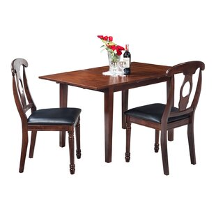 Assante Modern 3 Piece Solid Wood Dining Set by Alcott Hill