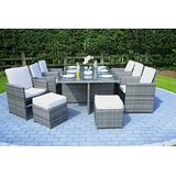 Direct Outdoor Patio 7 Piece Dining Set with Cushions