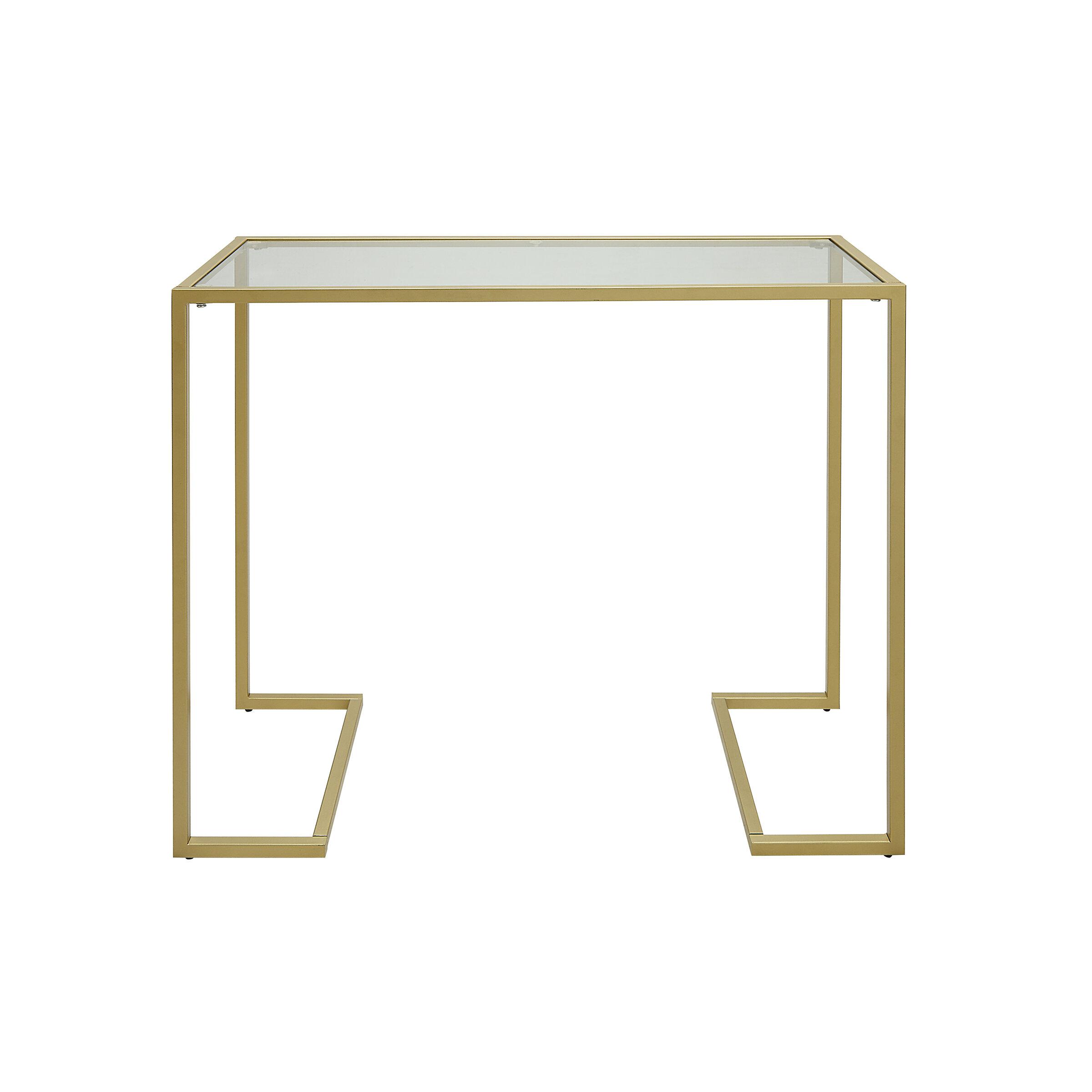 Zipcode Design Royalston 38 Glass Top Console Table Reviews Wayfair