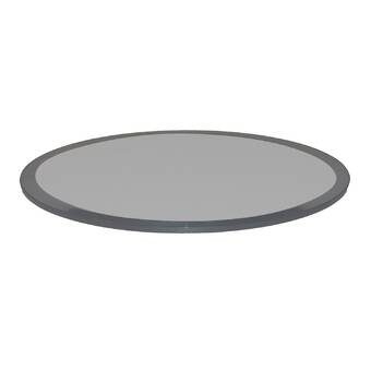 Fab Glass And Mirror Glass Table Top Beveled Tempered | Wayfair