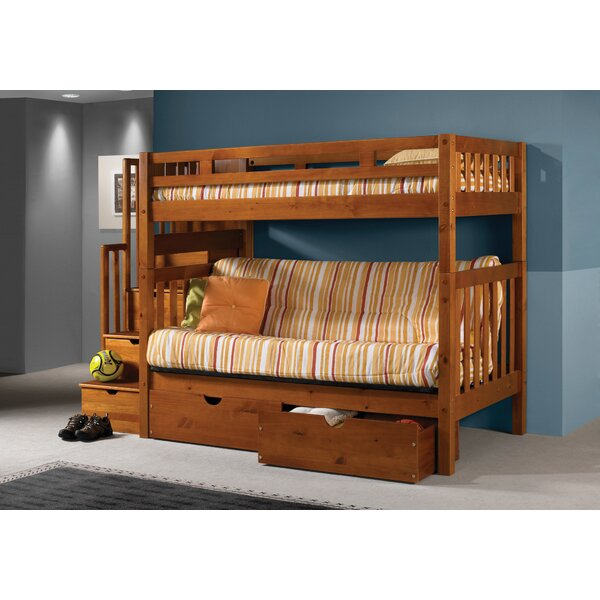 Harriet Bee Langley Stairway Loft Bunk Bed With Storage Drawers Reviews Wayfair Ca