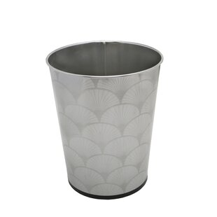 Bath Bliss Scallop Design Stainless Steel 1.32 Gallon Waste Basket