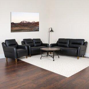 Greysen Upholstered Bustle Back 3 Piece Living Room Set by Brayden Studio