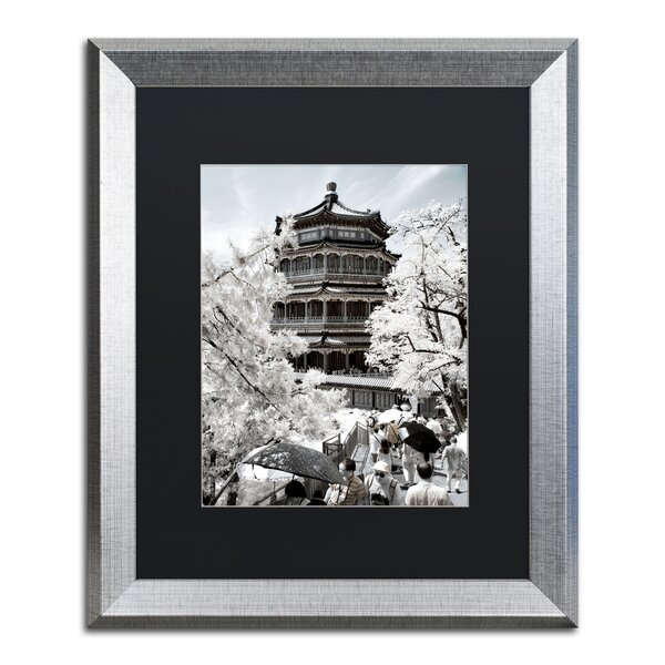 Trademark Art White Temple By Philippe Hugonnard Framed Photographic Print Wayfair