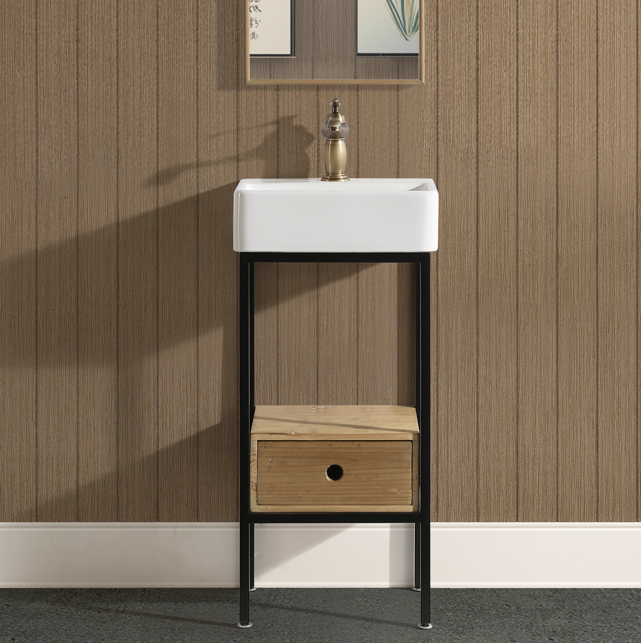 Brayden Studio Cassidy 16 Single Bathroom Vanity Reviews Wayfair