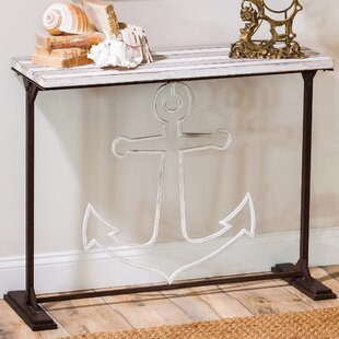 Oyster Rocks Console Table by Breakwater Bay #1