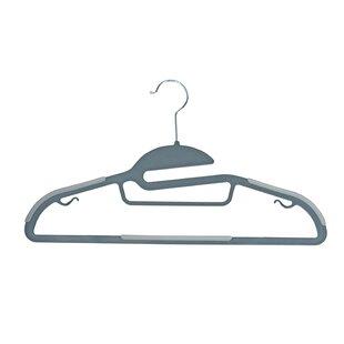 Best Reviews Burrier Plastic Non-Slip Hanger By Rebrilliant