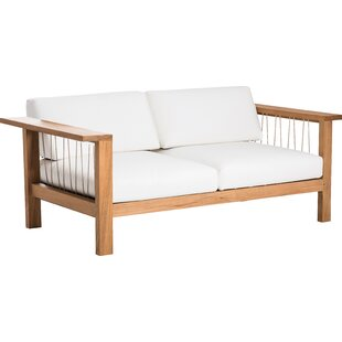 OASIQ Maro Teak Loveseat with Sunbrella Cushions