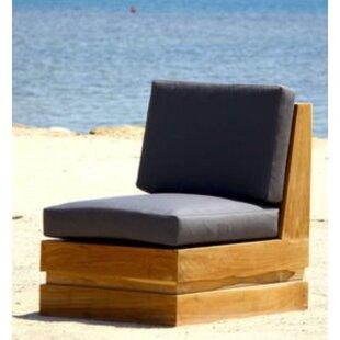 Seaside Teak Patio Chair with Sunbrella Cushions by IKsunTeak