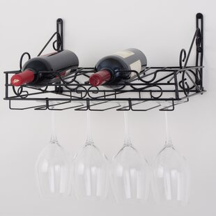 4 Bottle Wall Mounted Wine Rack by Concep..