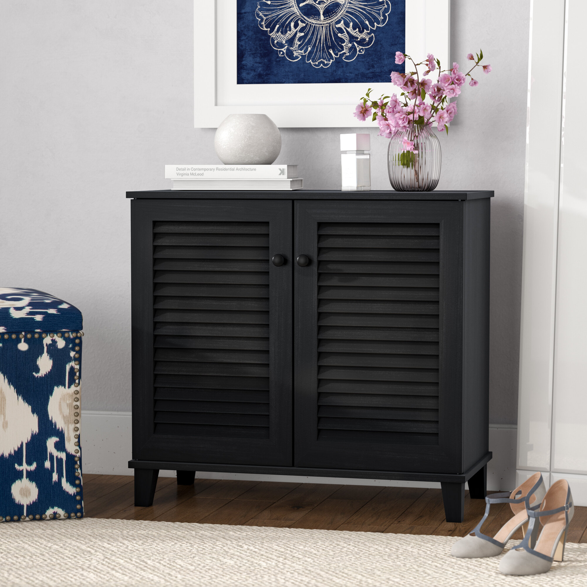 Ebern Designs Belote 14 Pair Shoe Storage Cabinet Reviews Wayfair Co Uk