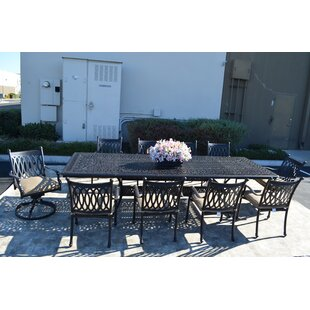 Fleur De Lis Living Baragrey 11 Piece Dining Set with Cushions