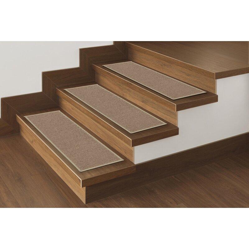 Beau Escalier Skid Resistant Rubber Backing Non Slip Carpet Dark Beige Stair  Tread