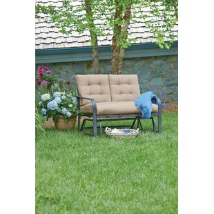 Winston Porter Woodbury Glider Bench with Cushions