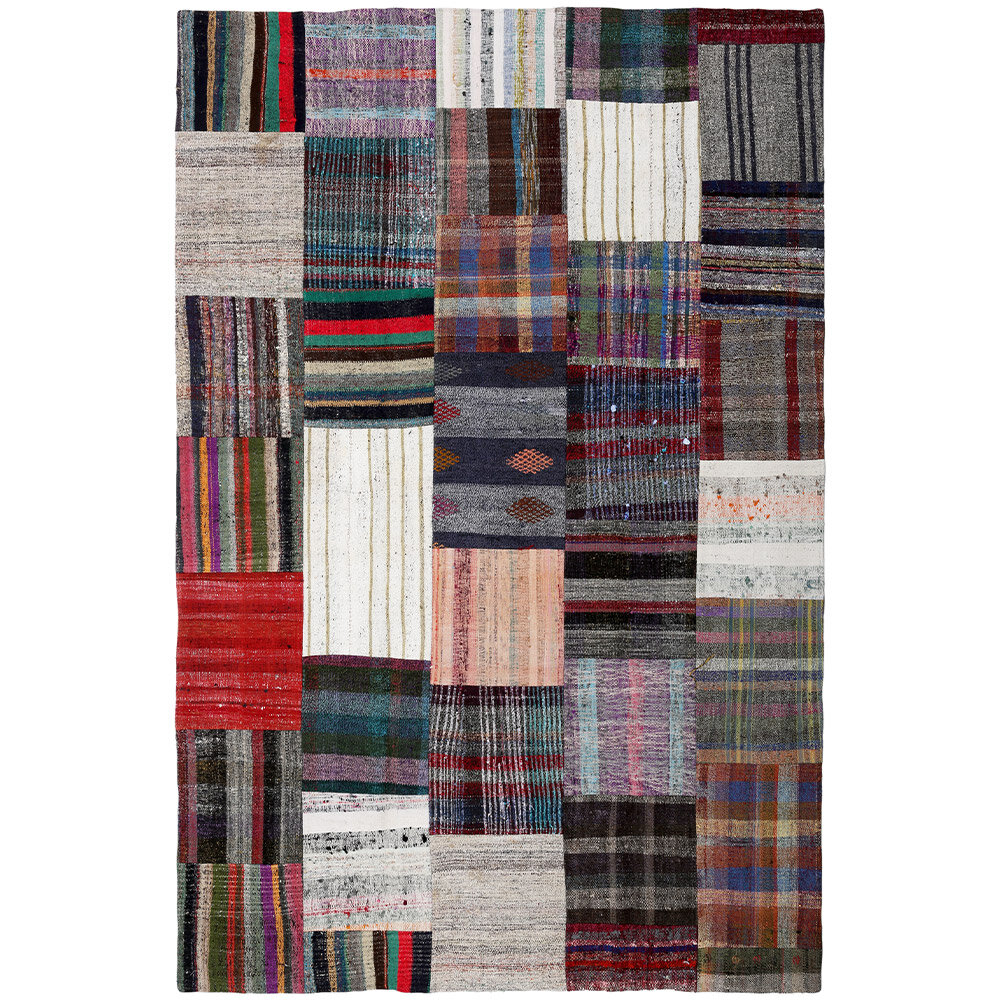 Isabelline One Of A Kind Southard Handmade Kilim 6 11 X 10 7 Cotton Red Gray Black Area Rug Wayfair
