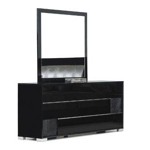 Willa Arlo Interiors Dorinda3 Drawer Dresser with Mirror