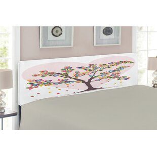 Love Tree Upholstered Panel Headboard by East Urban Home