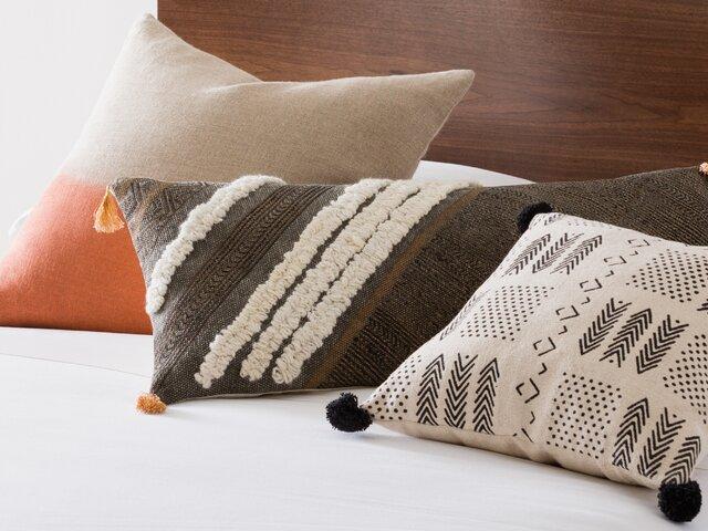 Hilma Al Klint Orange Rust Accent Pillow Cover Handembroidered Art Silk  18×18″