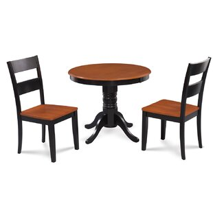 Alcott Hill Cedarville Elegant 3 Piece Wood Dining Set