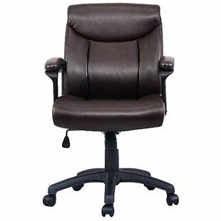 Winston Porter Striegel Mid-Back Ergonomic Leather Office Chair