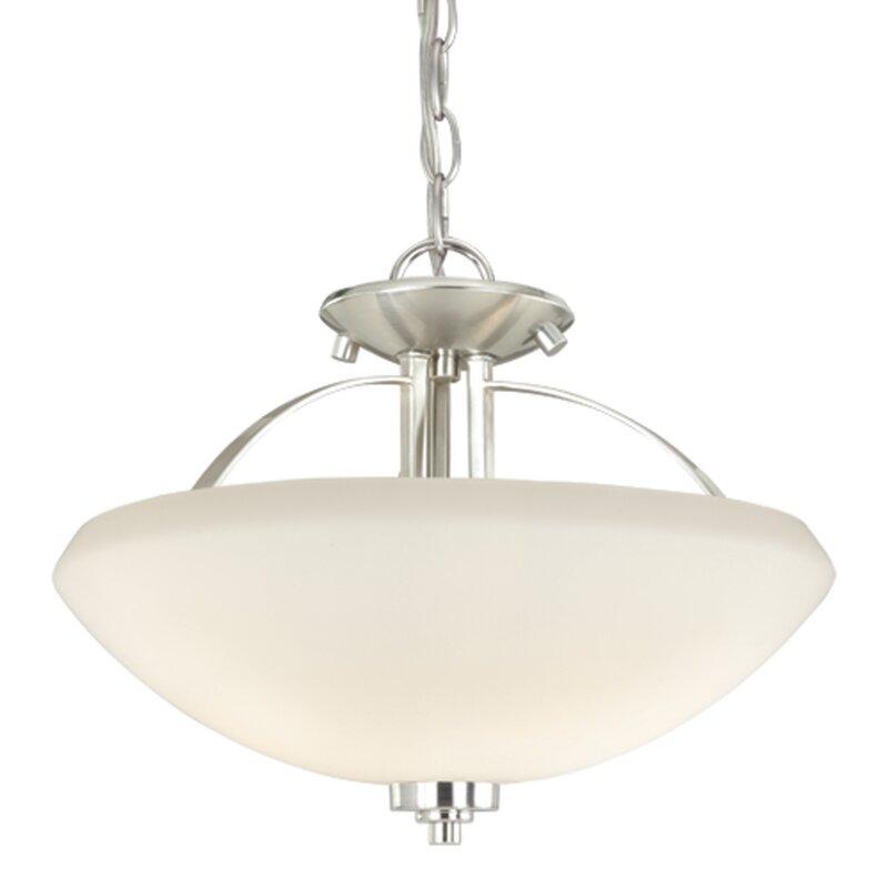 Ebern Designs Munden 2 Light Single Bowl Pendant Wayfair