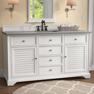 Osmond 60 Single Undermount Sink Cottage White Bathroom Vanity Set by Greyleigh