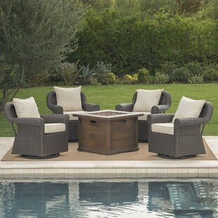 Pruett 5 Piece Conversation Set with Cushions